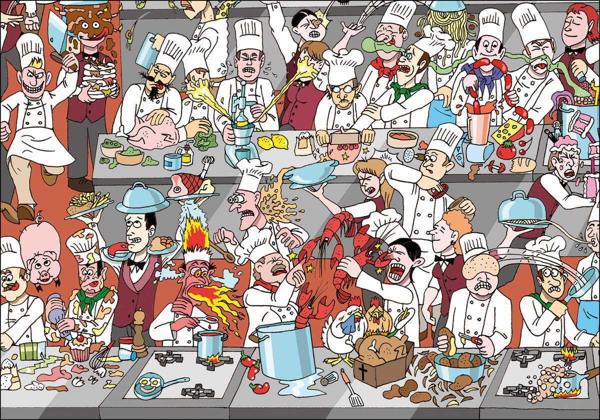 Dibujo de 1 cocineros cervecer a estiu arrocer a - Dibujos de cocineros para colorear ...
